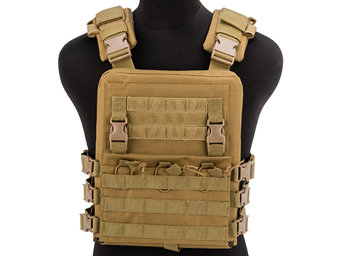 Matrix Adaptive Plate Carrier Vest w/ QD Assault Panel & Pack (Color: Desert Tan)
