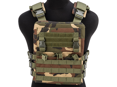 Matrix Adaptive Plate Carrier Vest w/ QD Assault Panel & Pack (Color: Woodland)