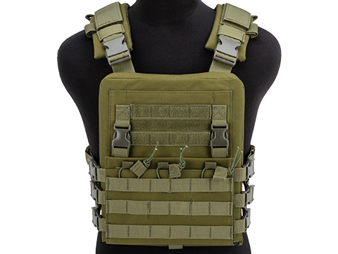 Matrix Adaptive Plate Carrier Vest w/ QD Assault Panel & Pack (Color: Ranger Green)