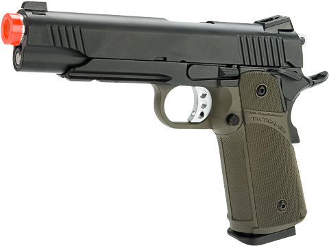 KJW Full Metal Custom 1911 Tactical HI-CAPA Gas / CO2 Blowback (Package: OD Green / Pistol)