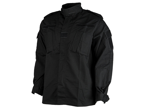 ACU Type Ripstop BDU Jacket (Color: Black / Large)