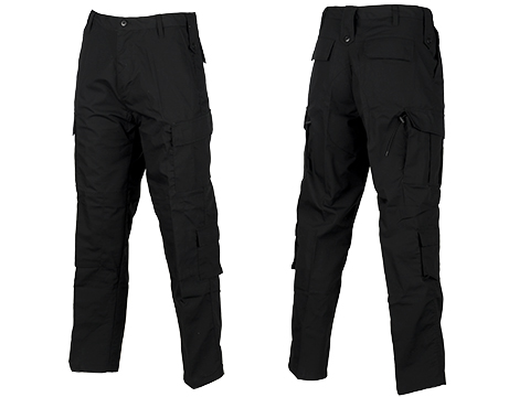 ACU Type Ripstop BDU Pants (Color: Black / Large)