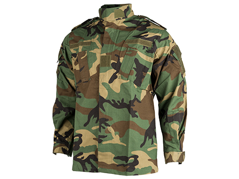 ACU Type Ripstop BDU Jacket (Color: Woodland / X-Large)