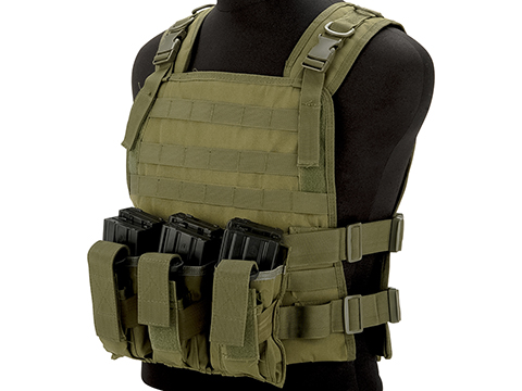 Matrix 600D MOLLE Plate Carrier Tactical Package with Hydration Carrier (Color: OD Green)