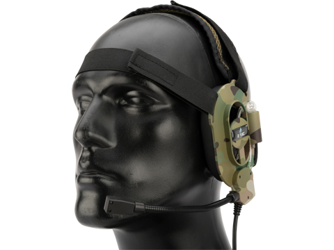 Element Z023 Military Style Low Profile Headset (Color: Multicam)