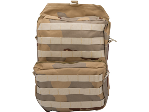 Matrix MOLLE Assault Back Panel for Plate Carriers (Color: 3 Color Desert)