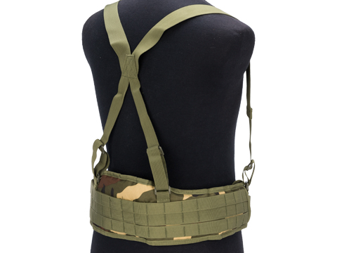 Matrix Battle Belt with Suspenders (Color: Woodland)