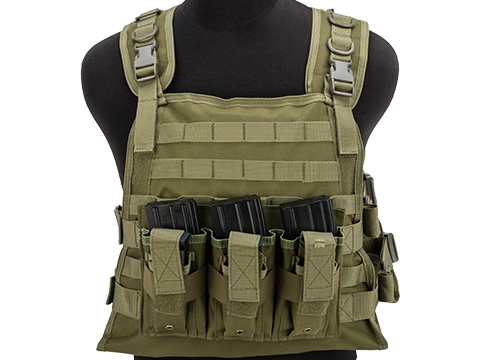 Matrix 600D MOLLE Plate Carrier Tactical Package with Hydration Carrier (Color: Ranger Green)