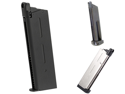 KJW 25 Round Magazine for KJW 1911 Gas Blowback Airsoft Pistols (Color: Black / Gas)