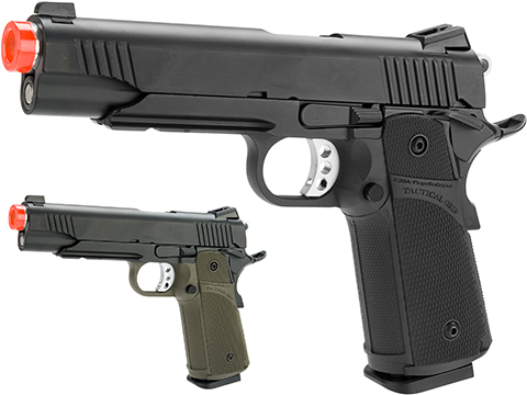 KJW Full Metal Custom 1911 Tactical HI-CAPA Gas / CO2 Blowback (Package: Black / Pistol)