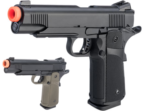 KJW 1911 Tactical HI-CAPA Gas / CO2 Gas Blowback Airsoft Pistol