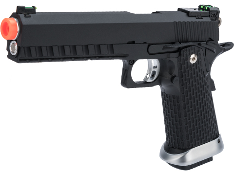 KJW Xcelerator 6 Hi-CAPA Full Metal Airsoft Gas Blowback Gun (Model: Gas / Black)