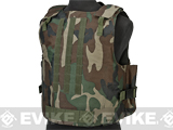 Airsoft Elite MOLLE Plate Carrier - Woodland (X-Large)
