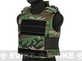 Airsoft Elite Soft Armor Plate Carrier - Woodland (Large)