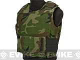 Airsoft Elite Soft Armor Flak Jacket - Woodland (Large)