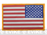 Screen Printed Reflective US Flag Patch - Full Color / Reverse