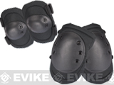 Avengers Special Operation Tactical Knee Pad / Elbow Pad Set (Color: Black)