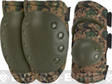 Avengers Special Operation Tactical Knee Pad / Elbow Pad Set (Color: Digital Woodland)