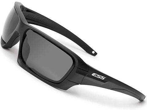 ESS Rollbar ANSI Rated Rapid Lens Exchange Sunglasses (Color: Black w/ Silver Logo / Clear & Smoke Gray Lens)