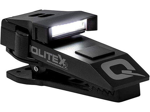 QuiqLite X2 USB Rechargeable Uniform Mount LED Light (Color: White / Red)