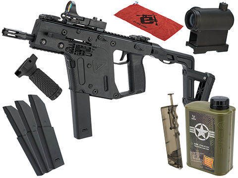 KRISS USA Licensed Kriss Vector Airsoft AEG SMG Rifle by Krytac (Model: Black / Essential Pack w/o Battery)