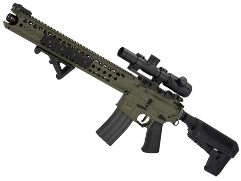 Krytac War Sport Licensed LVOA-C M4 Carbine Airsoft AEG Rifle (Model: Foliage Green)