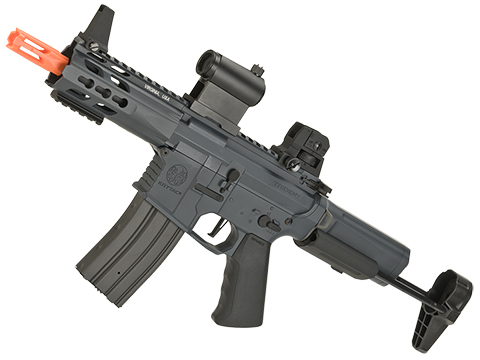 (10 MAGAZINE BUNDLE DEAL) Krytac Full Metal Trident PDW Airsoft AEG Rifle (Color: Combat Grey)