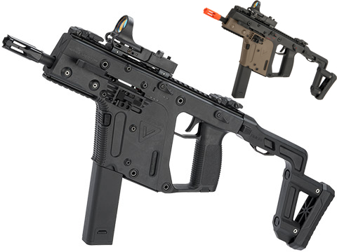 KRISS USA Licensed Kriss Vector Airsoft AEG SMG Rifle by Krytac (Model: Stock / Black)