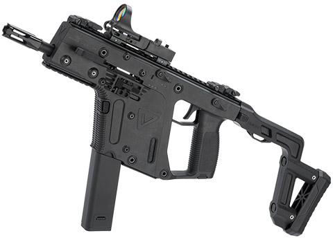 KRISS USA Licensed Kriss Vector Airsoft AEG SMG Rifle by Krytac (Model: Black / <350 FPS)