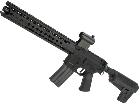 Krytac War Sport Licensed LVOA-S M4 Carbine Airsoft AEG Rifle (Model: Black / 350 FPS)