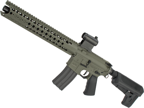Krytac War Sport Licensed LVOA-S M4 Carbine Airsoft AEG Rifle (Model: Foliage Green / 350 FPS)