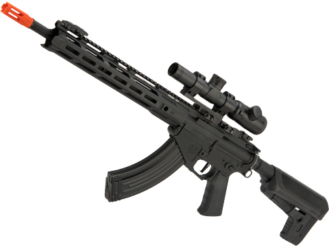 Krytac Full Metal Trident 47 SPR Airsoft AEG Rifle (Color: Black)