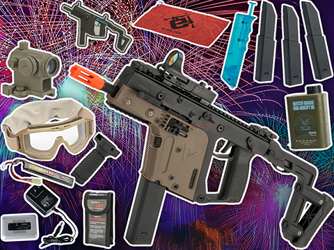 Evike.com's New Year's Bundle - Krytac KRISS Vector Airsoft AEG w/ Essentials Accessory Pack