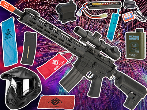 Evike.com's New Year's Bundle - Krytac Trident MKII-M SPR Airsoft AEG w/ Essentials Accessory Pack