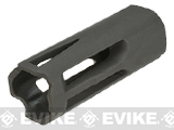 Krytac Black Metal Flash Hider 14mm Negative and Set Screw
