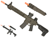 Krytac Full Metal Trident MKII SPR / PDW Upper Airsoft AEG Rifle Package (Color: Black)