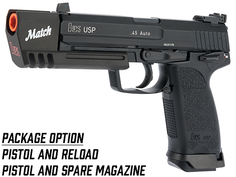 Evike.com Exclusive Heckler & Koch USP Match Gas Blowback Airsoft Pistol by KWA