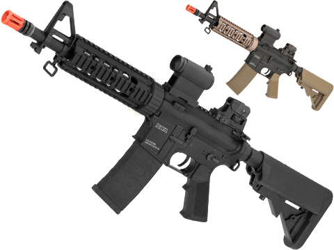 KWA Full Metal KM4 SR7 CQB Airsoft AEG Rifle (Color: Black)