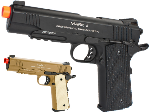 KWA Full Metal M1911 NS2 PTP w/ Railed Frame Airsoft Gas Blowback - MKII (Color: Black)