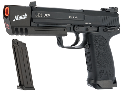 Evike.com Exclusive Heckler & Koch USP Match Gas Blowback Airsoft Pistol by KWA (Package: Pistol and Spare Magazine)