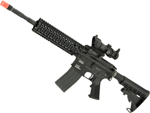 Evike.com Custom KWA LM4 Gas Blowback Rifle with Madbull Daniel Defense AR15 Lite 9 Rail