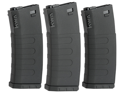 KWA K400 400rd Polymer Hi Capcity Magazine for M4 / M16 Series Airsoft AEG Rifles (Color: Black / 3 Pack)