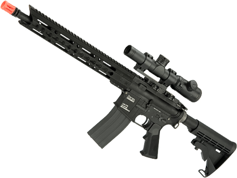 Evike.com Custom KWA LM4 Gas Blowback Rifle with Matrix Arms  Charlie 13 Keymod Handguard