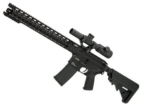 Evike Custom KWA VM4-A1 V2.5 M4 Airsoft AEG with G&P Breacher Rail