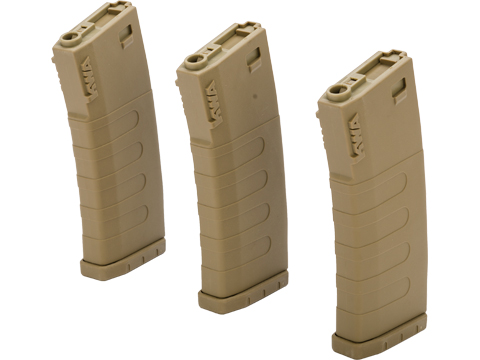 KWA K400 400rd Polymer Hi Capcity Magazine for M4 / M16 Series Airsoft AEG Rifles (Color: Tan / 3 Pack)