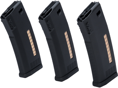 KWA MS120C Variable Capacity 30 / 120 Round Magazines for KWA ERG / AEG2.5 / AEG3 Rifles (Qty: 3 Pack)