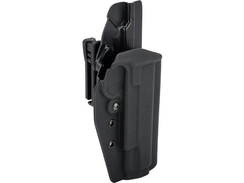 MC Kydex Airsoft Elite Series Pistol Holster for 1911 (Model: Black / TEK-LOK Black / Right Hand)