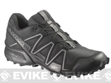 Salomon SpeedCross 3 Forces Running Shoes - Black / Black / Autobahn (Size: 7)
