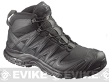 Salomon XA Pro 3D MID Forces Tactical Boots - Black / Black / Asphalt (Size: 9)