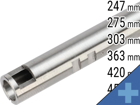 Lambda Five Precision Stainless Steel 6.05mm Tight Bore Inner Barrel for Tokyo Marui Spec AEGs (Length: 363mm / M4A1)